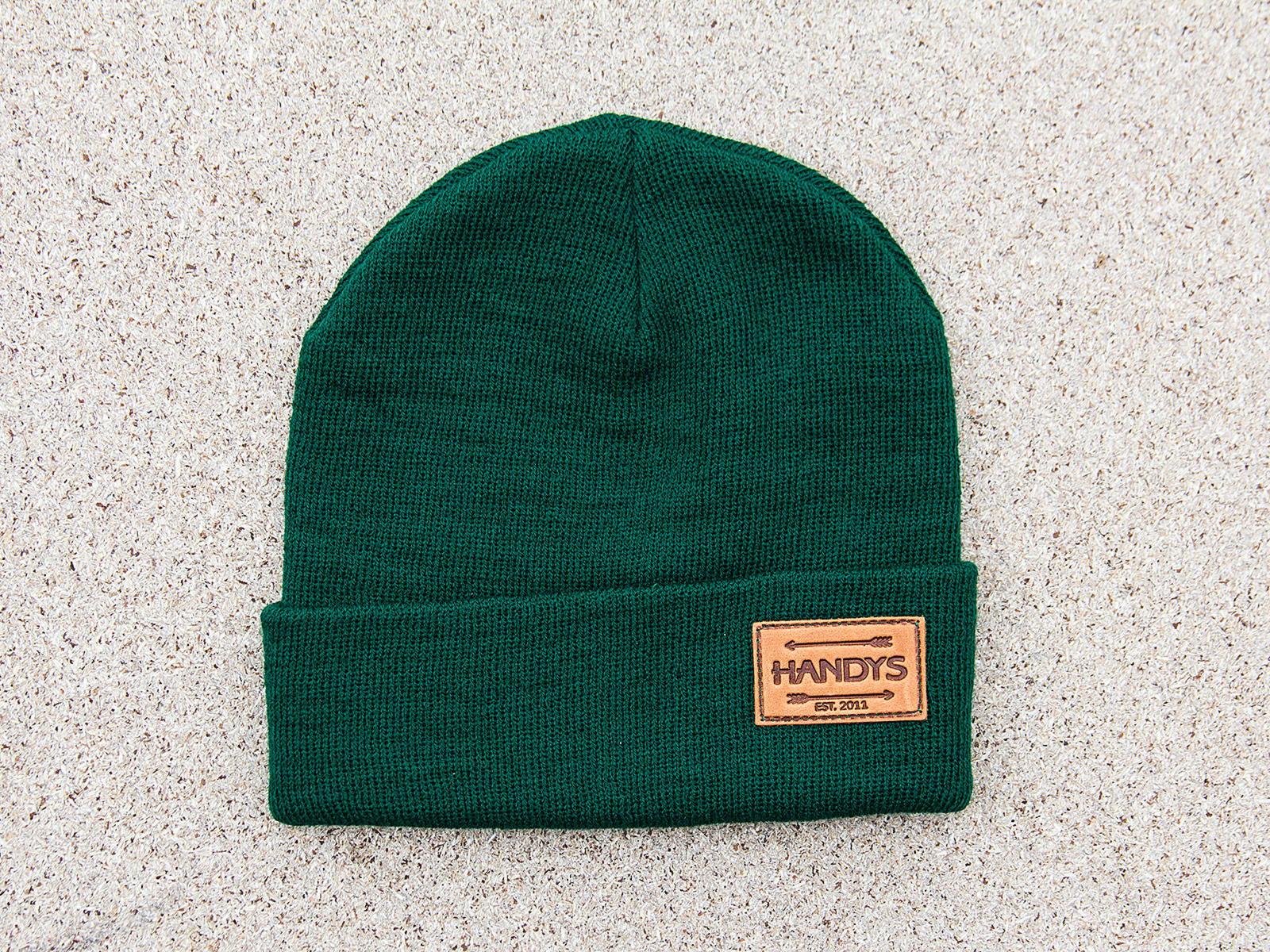 HANDYS BEANIE HAT FOREST GREEN LTR